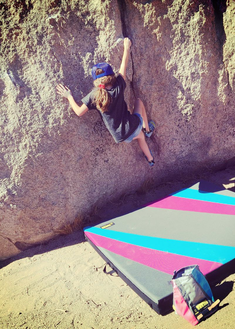 Being a climbing mom makes me happy, especially when my daughter gets fulfilled by her great attempts and accomplishments.