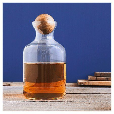 "56 oz. Glass Decanter With Wood Stopper, $34.99, <a href=""http://www.target.com/p/-/A-51198603"" target=""_blank"">Target</a>"