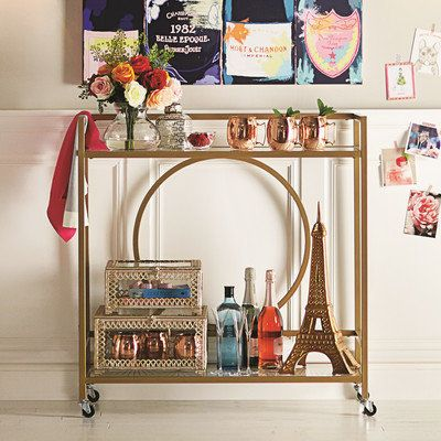 "Alsager Serving Cart, $133.99, <a href=""https://www.wayfair.com/Alsager-Serving-Cart-HOHN6326-HOHN6326.html"" target=""_bl"