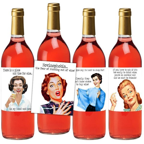 "Hostess Wine Label Set, $10, <a href=""https://www.etsy.com/listing/292052193/hostess-wine-label-set-wine-label-gift?ga_order="