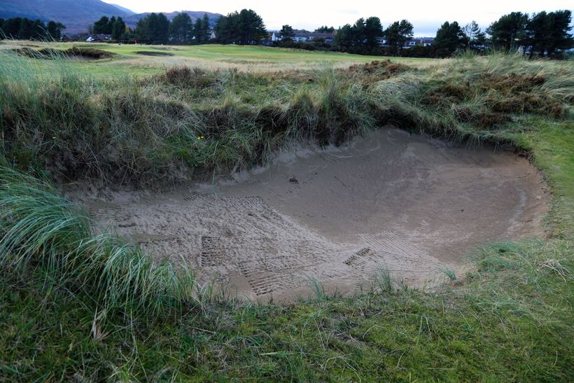 """One of the deep, beautiful """"bearded"""" bunkers of Royal County Down"""