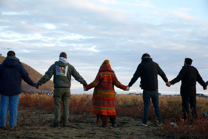 Protesters have been fighting against the construction of the Dakota Access pipeline in their territory.