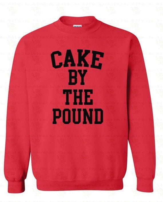 "$12.98, Etsy. Buy it <a href=""https://www.etsy.com/listing/226579213/cake-by-the-pound-black-logo-crewneck?ga_order=most_rele"