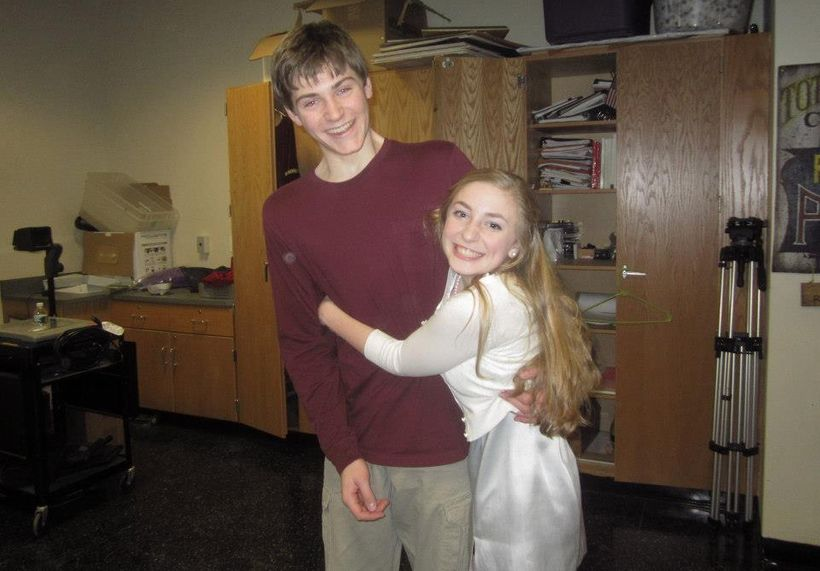 A happy picture with my friend Erik, from my theater days in HS