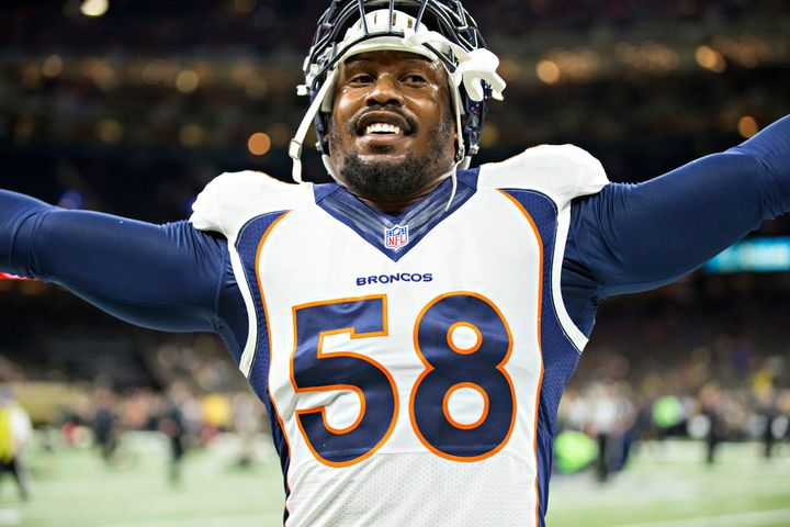 Broncos linebacker Von Miller, a four-time All-Pro selection, leads the NFL in sacks this season.