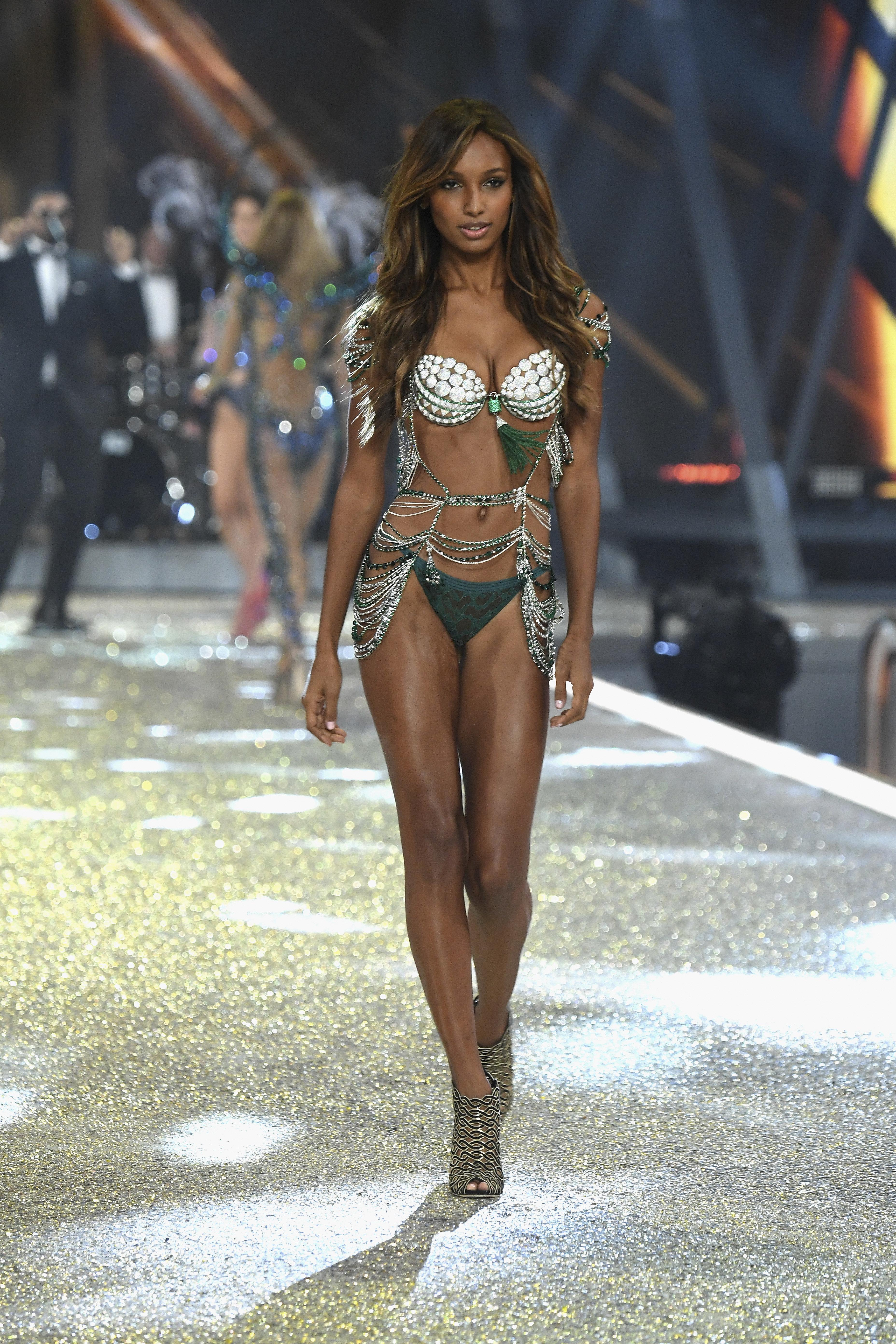 Jasmine Tookes wearing the fantasy bra.