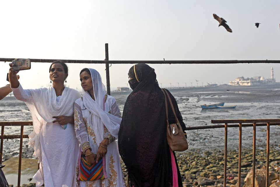 Members of the Bharatiya Muslim Mahila Andolan women's group were permitted to enter the inner sanctum of Haji Ali