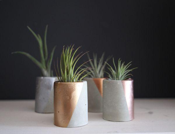 """Mini Concrete Succulent Planter, $8, <a href=""""https://www.etsy.com/listing/458057066/concrete-planter-mini-concrete-succulent"""