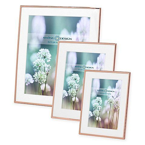 """Rose Gold Picture Frames,$9.99 - $19.99, <a href=""""https://www.bedbathandbeyond.com/store/product/swing-design-essex-met"""