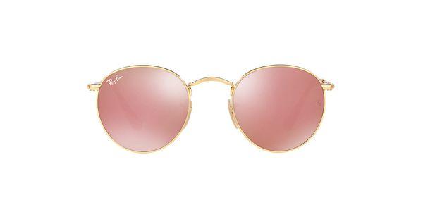 "Rose Gold Ray-Ban Sunglasses, $175, <a href=""http://www.sunglasshut.com/us/8053672611502"" target=""_blank"">Sunglass Hut</a>"