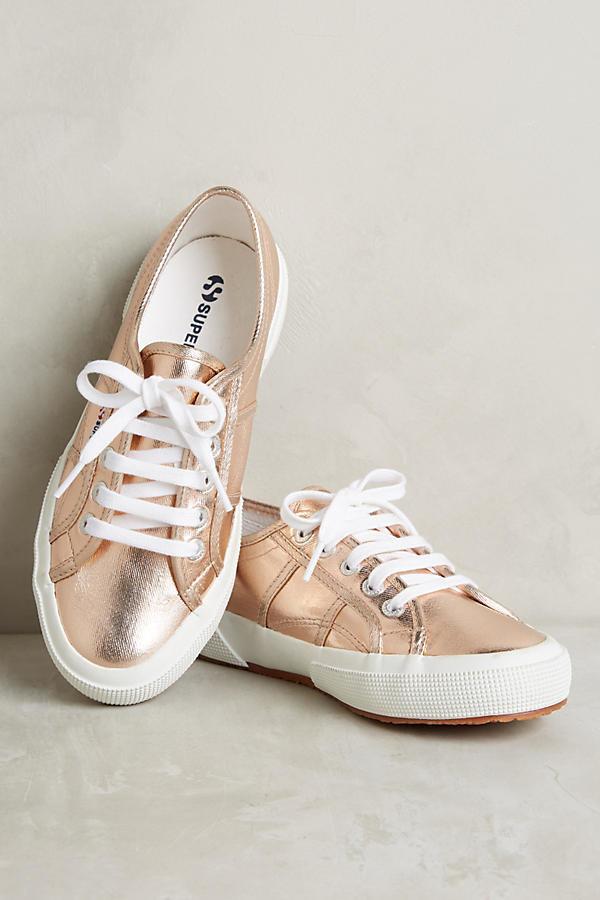"Superga Metallic Sneakers, $78, <a href=""https://www.anthropologie.com/shop/superga-metallic-sneakers2?category=SEARCHRESULTS"