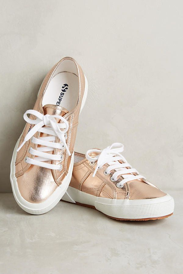 "Superga Metallic Sneakers, $78, <a href=""https://www.anthropologie.com/shop/superga-metallic-sneakers2?category=SEARCHRESULTS"