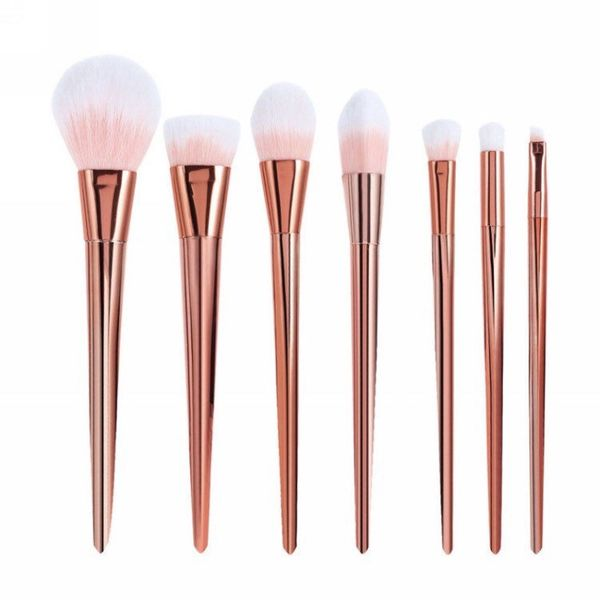 "Rose Gold 7Piece Makeup Brush Set, $19.23, <a href=""https://www.etsy.com/listing/449010736/rose-gold-7pc-makeup-brush-s"