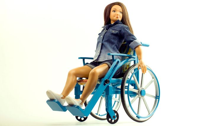 Nickolay Lamm developed a wheelchair accessory for fashion dolls.