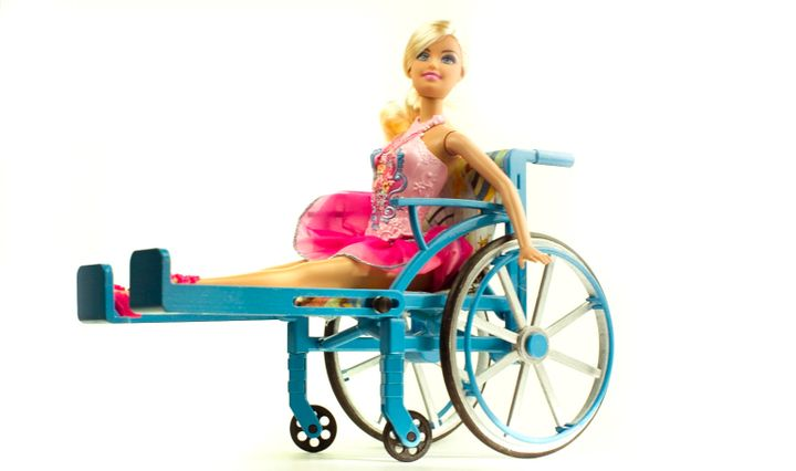 The wheelchair has adjustable leg rests and fits Lammily dolls, as well as others like Barbie, Monster High and Disney Prince