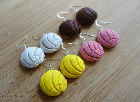 "$13.00, Etsy. <a href=""https://www.etsy.com/listing/203605079/mexican-concha-pan-dulce-polymer-clay?ref=shop_home_active_21"""