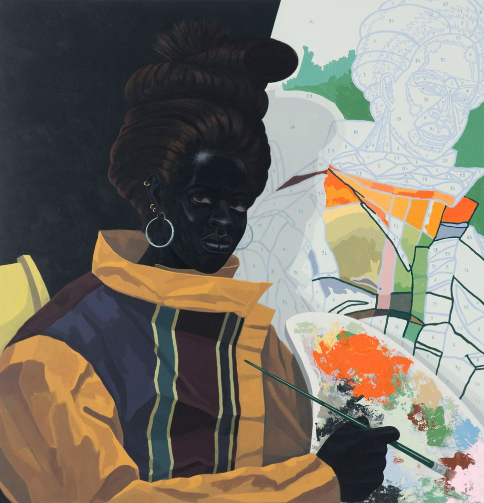"Kerry James Marshall, ""Untitled (Painter),"" 2009, Acrylic on PVC panel, Museum of Contemporary Art Chicago, gift of Katherine"