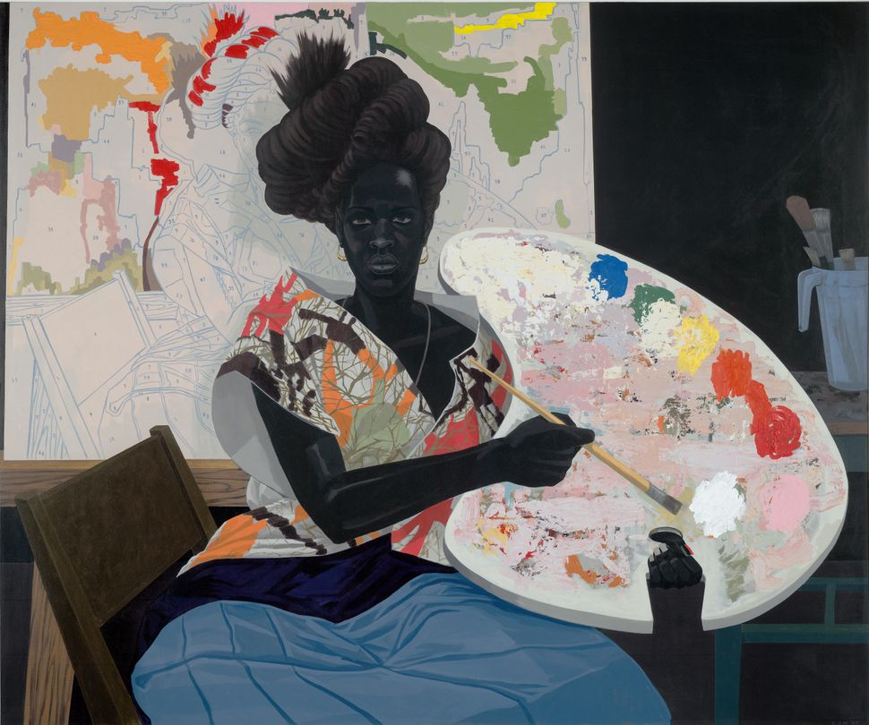 "Kerry James Marshall, ""Untitled,"" 2009, Acrylic on PVC panel. Yale University Art Gallery, Purchased with the Janet and Simeo"
