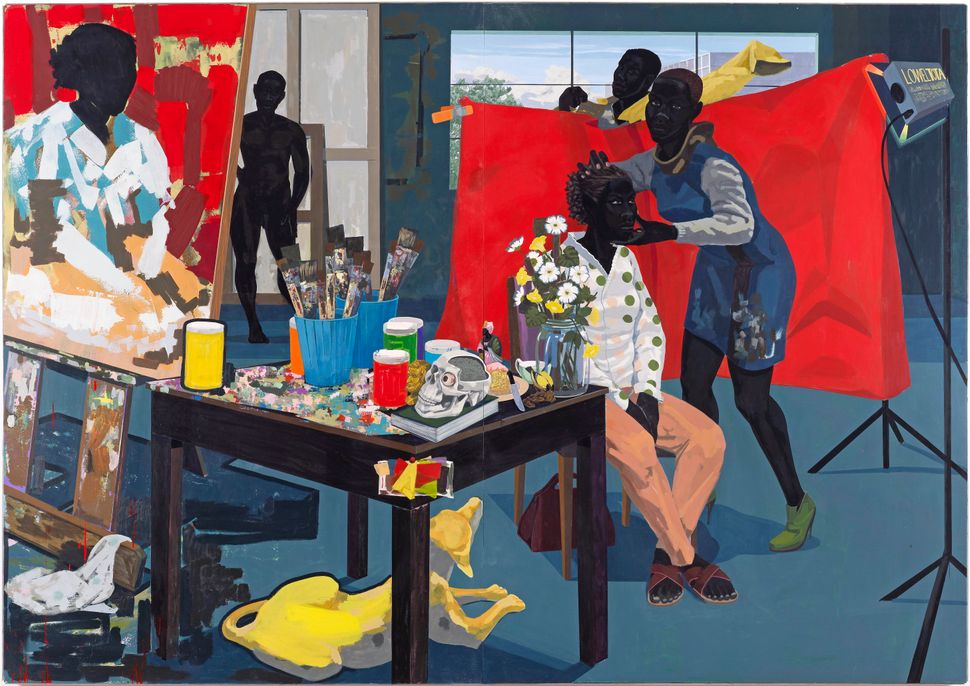 "Kerry James Marshall. ""Untitled (Studio),"" 2014, Acrylic on PVC panels. The Jacques and Natasha Gelman Foundation Gift, Acqui"