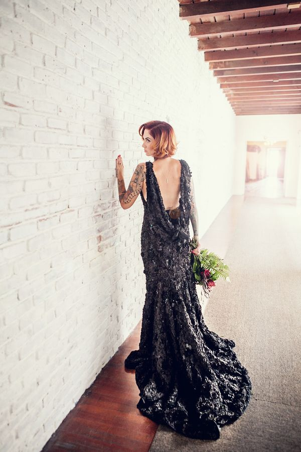 23 dark wedding dresses for brides who think white is trite huffpost junglespirit Images