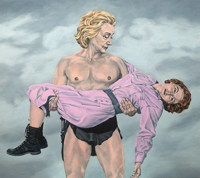 Sarah Sole.<em>Tarzan</em>,2016.Acrylic on Canvas, 48 x 54 inches.