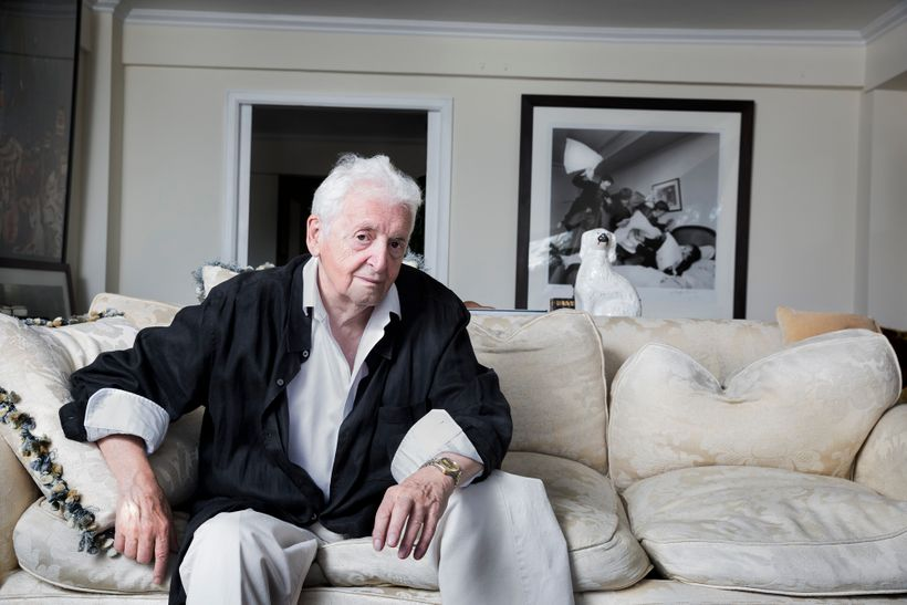 Scottish photographer Harry Benson, photographed at his home in NYC. Harry has been a witness to some of the world's most his