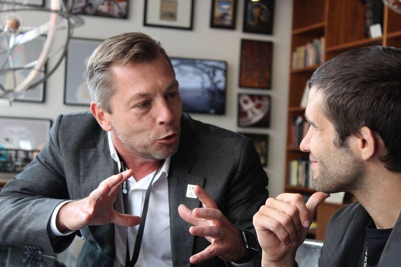 TechEmergence Founder Daniel Faggella with Accenture's Global Technology R&D Lead Marc Carrel-Billiard