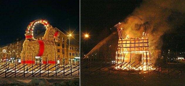 Some Jerk Burned Down Sweden's Giant Christmas Goat...