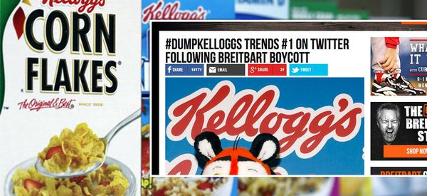 Breitbart Declares War On Kellogg's After Cereal Maker Pulls Adverts From Alt-Right Site