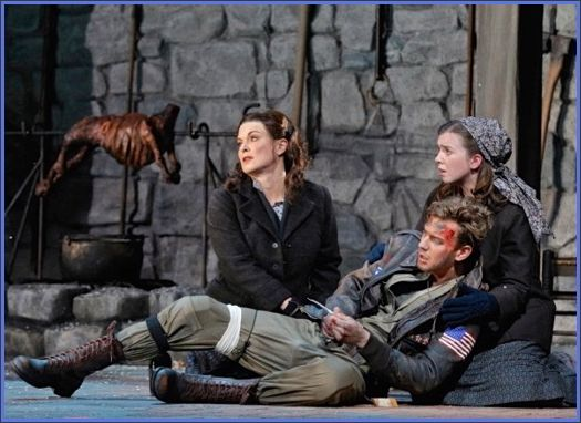 Anna Caterina Antonacci (Cesira), Sarah Shafer (Rosetta), Edward Nelson (John Buckley). Marco Tutino's<em> Two Women</em>