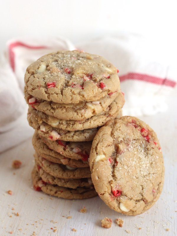 "<strong>Get the <a href=""http://www.completelydelicious.com/2013/12/white-chocolate-peppermint-cookies.html"" target=""_blank"">"