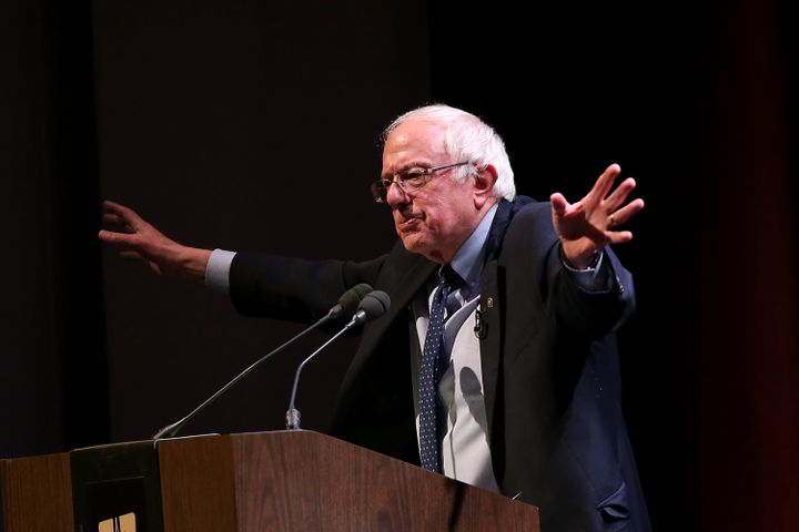 Sen. Bernie Sanders (I-Vt.) speaks in Glendale, California on Nov. 29, 2016. He blasted President-elect Donald Trump's deal t
