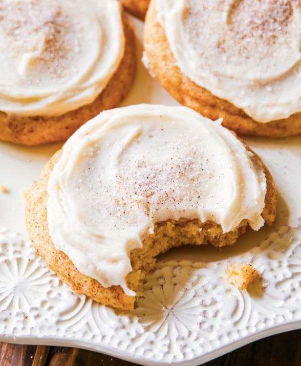 "<strong>Get the <a href=""http://sallysbakingaddiction.com/2014/10/31/frosted-chai-spice-snickerdoodles/"" target=""_blank"">Fros"