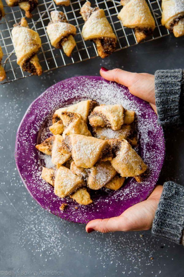 "<strong>Get the <a href=""http://sallysbakingaddiction.com/2016/11/29/how-to-make-rugelach-cookies/"" target=""_blank"">Rugelach"