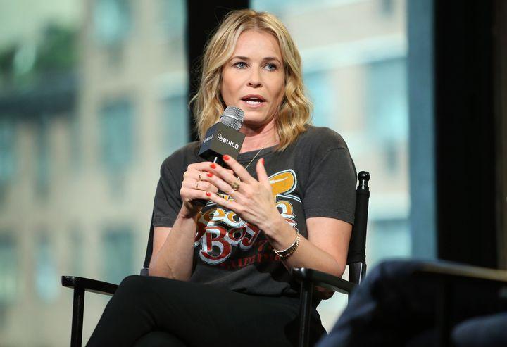 Chelsea Handler speaks at AOL Build on Aug. 25.