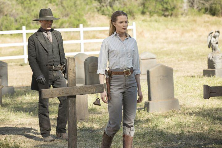 """Ed Harris and Evan Rachel Wood in the season finale of """"Westworld."""""""