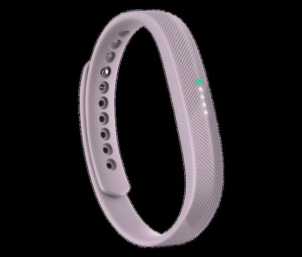 """Fitbit Flex 2, $99.95, <a href=""""https://www.fitbit.com/shop/flex2?color=lavender"""" target=""""_blank"""">Fitbit</a>"""