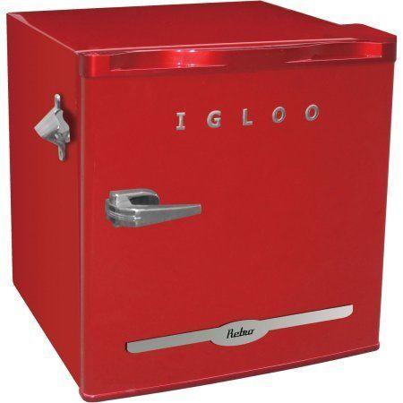 "Retro Igloo Fridge, $109.95, <a href=""https://www.walmart.com/ip/43836597?wmlspartner=wlpa&adid=22222222227033476752&"