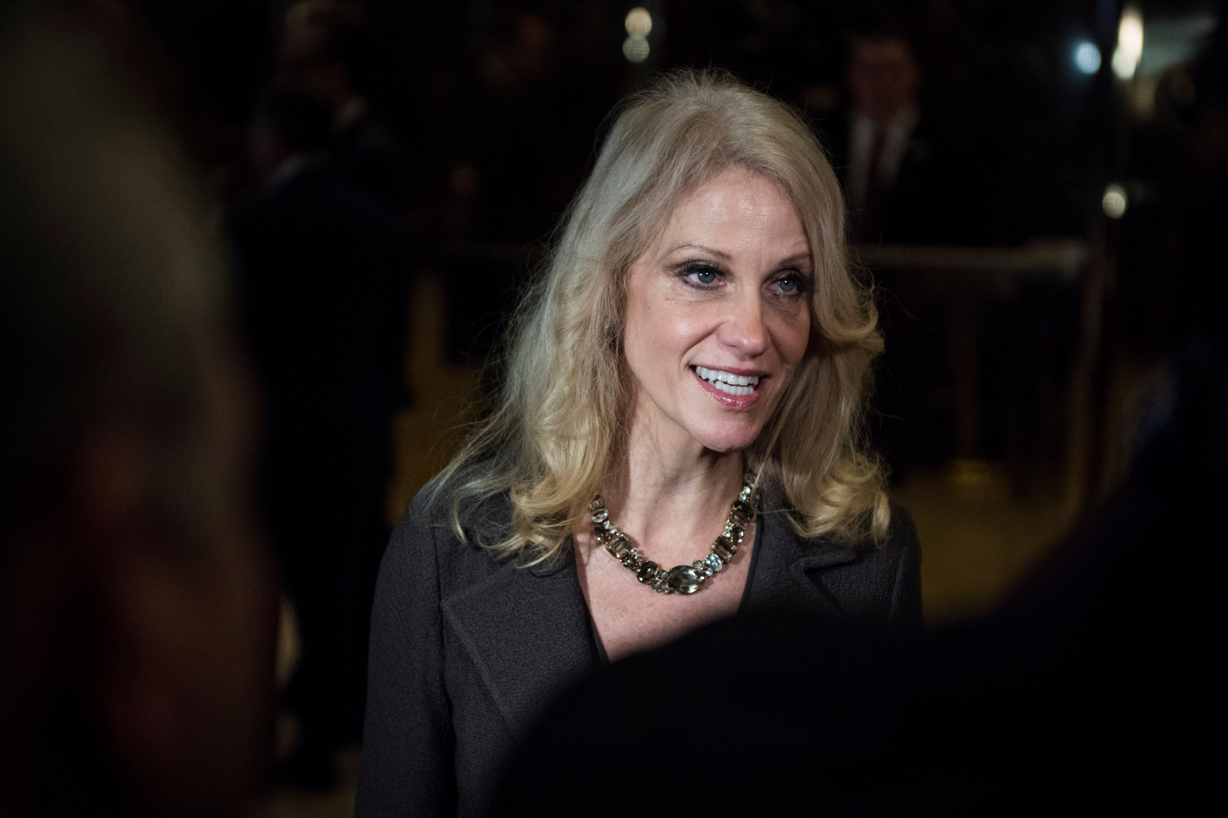 Kellyanne Conway, Donald Trump's campaign manager and top aide, speaks to media on Nov. 16 at Trump Tower in New York.