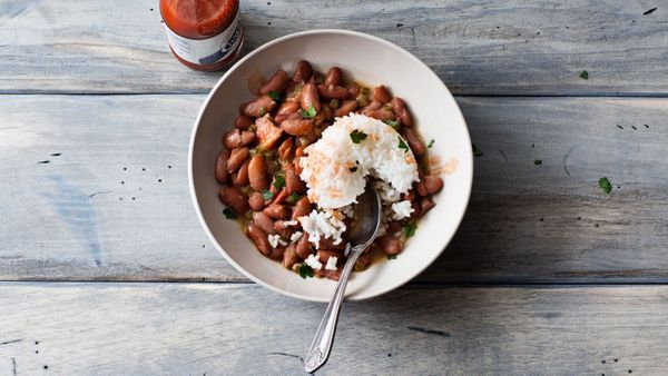 Traditionally, New Orleans' famous red-beans-and-rice dish was something you ate on Mondays, since that was usually laundry d