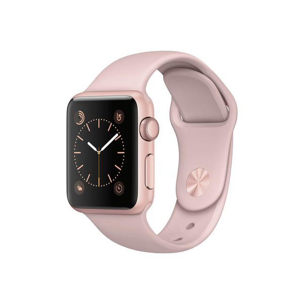 """<a href=""""http://www.target.com/p/apple-watch-series-1-38mm-rose-gold-aluminum-case-with-pink-sand-sport-band/-/A-16867604?ref"""