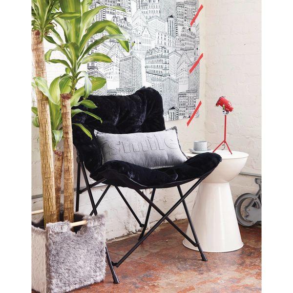 "Faux Fur Chair, $49.99, <a href=""http://www.target.com/p/faux-fur-chair-room-essentials/-/A-26390818"" target=""_blank"">Target<"