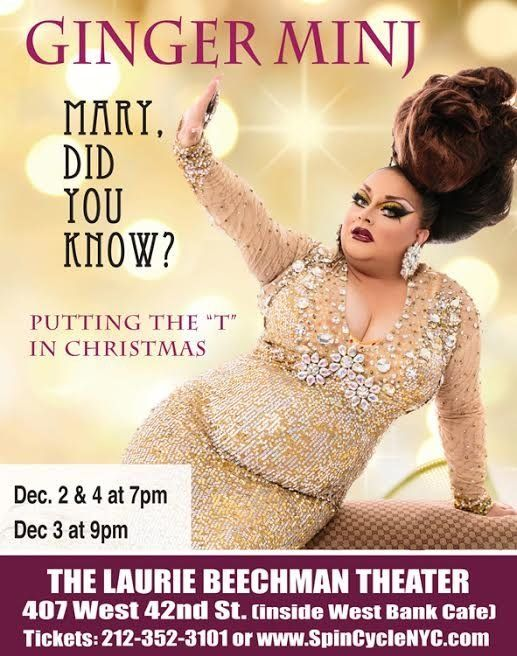 """""""Holiday memories are often best recalled through a heavy filter of dust and booze,"""" Ginger Minj said."""