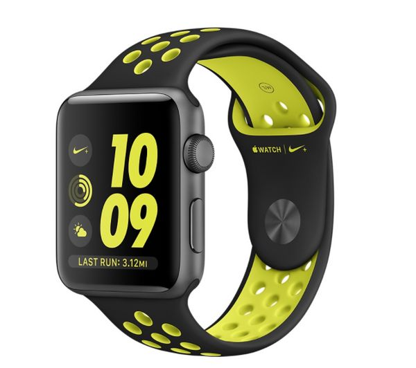 "42mm Space&nbsp;Gray&nbsp;Nike+ Apple Watch, $399, <a href=""http://www.apple.com/shop/buy-watch/apple-watch/space-gray-alumin"