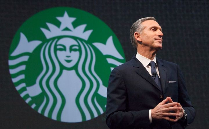 Starbucks Chief Executive Howard Schultz speaks during the company's annual shareholder's meeting in Seattle, Washington Marc