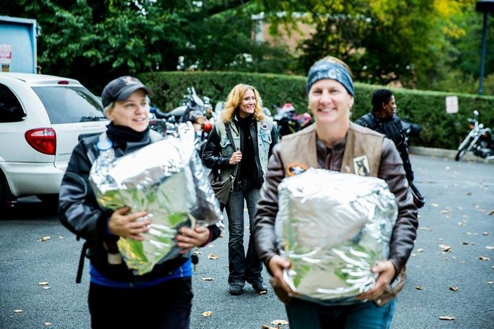 Volunteers fromthe Sirens Women's Motorcycle Club of New York City deliver breast milk to babies in need.