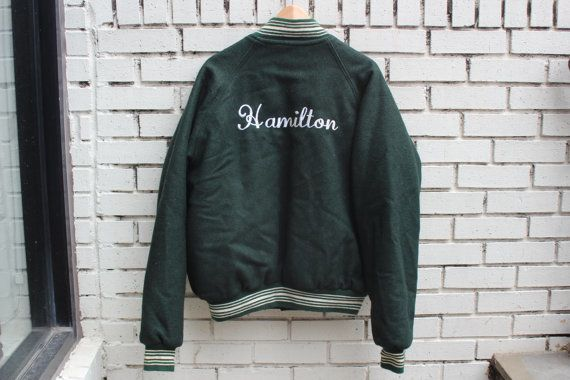 "$54.99. <a href=""https://www.etsy.com/listing/470244314/vintage-hamilton-varsity-jacket-button?ga_order=most_relevant&amp;ga_"