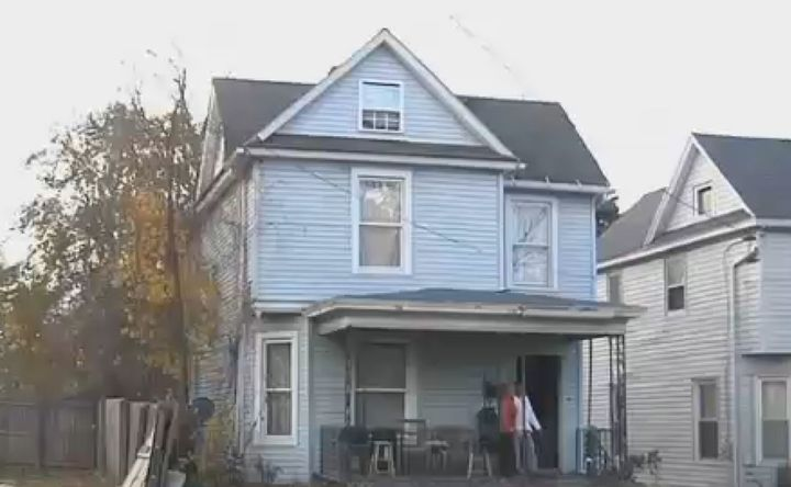 The house where police found the body believed to be that of Dyquain Rogers.