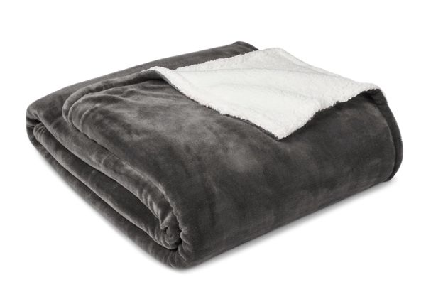 """<a href=""""http://www.target.com/p/cozy-sherpa-blanket-twin-radiant-gray-sour-cream-threshold/-/A-51241331"""" target=""""_blank"""">Thr"""