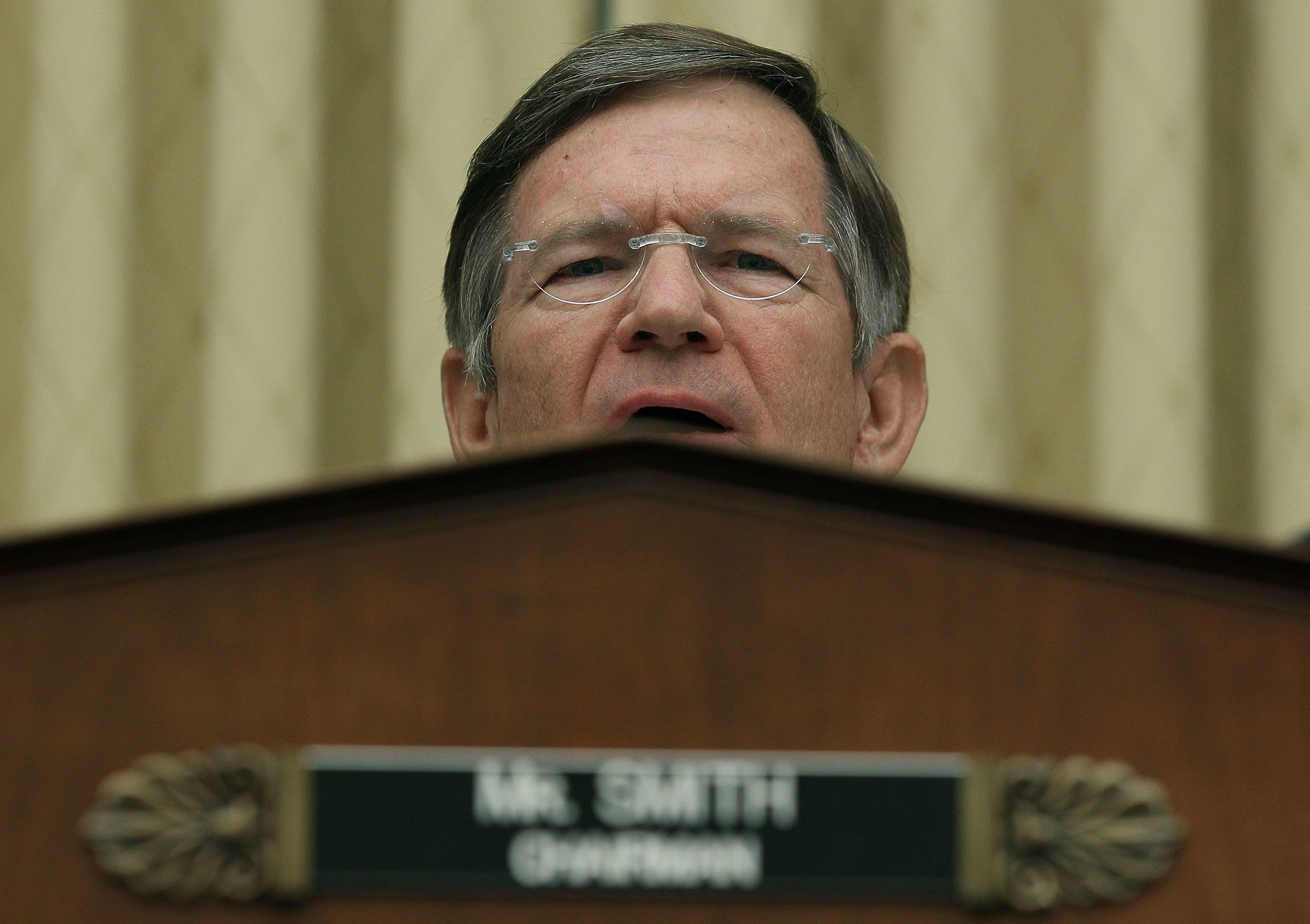 Rep. Lamar Smith (R-Texas), a noted climate change denier, chairs the House Science Committee.